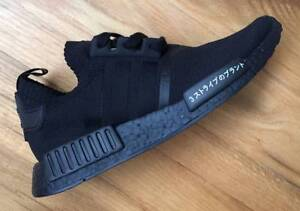 Adidas NMD R1 Primeknit Japan Triple Black US13 Padbury Joondalup Area Preview