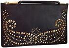 Wristlet Brown Studded Wallets for Women