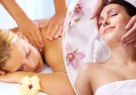 Relaxing massage and facial