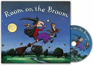 Room-on-the-Broom-Book-and-CD-Pack-Donaldson-Julia-Very-Good-Book