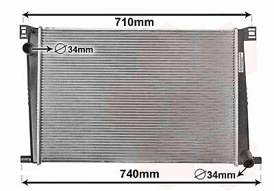 VAN WEZEL Motorkühler Wasserkühler 06002333 für MINI R60 CLUBMAN COUNTRYMAN R56