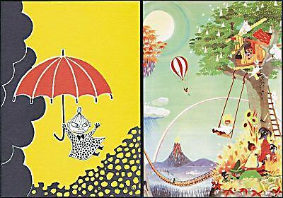 Moomin Troll Little My Finland Mint Postcards Beautiful