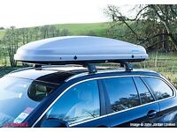 Kamei husky medium roof box grey used once immaculate