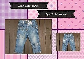 NEXT Girls Jeans, Age 18-24 Months