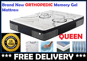 BRAND NEW Queen Size Bed Mattress Gel Memory Foam FREE DELIVERY New Farm Brisbane North East Preview