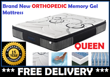 BRAND NEW Queen Size Bed Mattress Gel Memory Foam FREE DELIVERY