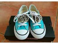 Girls Turquoise Converse Size 13 UK - FAB Condition