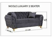 AFFORDABLE BEAUTY 💕NICOLE LUXUARY 2-SEATER SOFA AVAILABLE SALE PRICE🔥