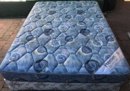 Excellent Sealy Brand Queen bed base with Excellent Mattress