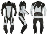 WHITE & BLACK 1pc LEATHERS, BOOTS, GLOVES & HELMET... NOW REDUCED TO £200