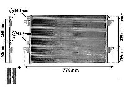 Condensador, Acondicionado Ir Plus Ø 15,5MM con Accesorios para Renault Espace