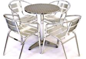 Silver Cafe Tables North Turramurra Ku-ring-gai Area Preview