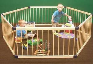 Kiddy Cot Deluxe Hexagonal Wooden Play Pen Dianella Stirling Area Preview