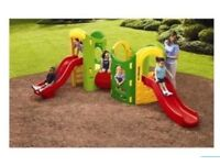 Large little tikes garden climber with two slides tunnel and house/den. Strong and sturdy. See pics!