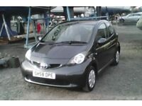 Toyota,Aygo,very economical,ideal first car,super mini,low mileage,1L,2008,manual,low tax,full MOT