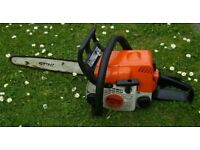 STIHL CHAINSAW MS170 2004 SUPERB CONDITION LITTLE USED.