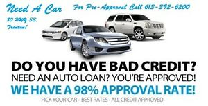 NEED A NEW CAR? HAVE BAD CREDIT? APPLY NOW! 98% APPROVED