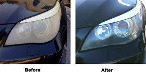 Headlight Restoration from cloudy to clear