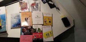 Lots de livres et manuels en français à vendre ou échanger