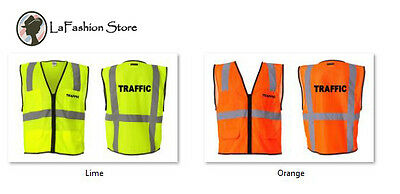 TRAFFIC logo public safety security police vests S-5XL
