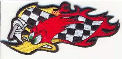 WOODY RACING FLAG EMROIDERED JACKET VEST BIKER PATCH  (Woody Vest)