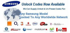 Remote Samsung  Factory  Unlocking / ALL Models / Any Carrier