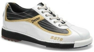 Dexter Sst 8 White/black/gold Mens Bowling Shoes