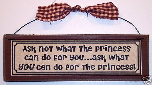 Funny PRINCESS girlfriend Country sign decor ASK NOT..