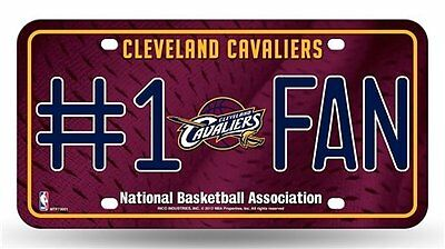 Cleveland Cavs Cavaliers  1 Fan License Plate Nba Officially Licensed Ball Ohio