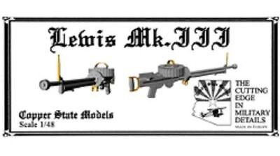 Copper State Models A48-146 Lewis Mk.III MG Mk.3 Maschinengewehr 1:48
