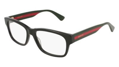 NEW Gucci Urban GG0343O Eyeglasses 007 Black 100% AUTHENTIC 57mm