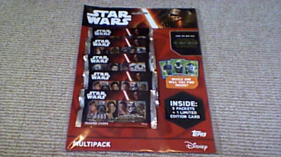Journey to Star Wars The Force Awakens TOPPS UK Trading Cards MULTIPACK LTD CARD