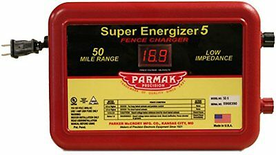 Parmak Super Energizer 5 Low Impedance 110120 Volt 50 Mile Range Electric Fence