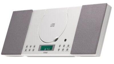 Stereoanlage mit CD, Radio und AUX In Denver MC-5010 weiss wandmontage geeignet