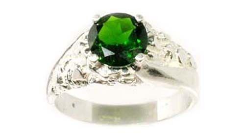 Chrome Diopside Ring 1½ct Russia Yakutsk Emerald Italian Alalit Mussit Ala Mussa