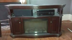 Solid Wood TV Stand in Great Condition