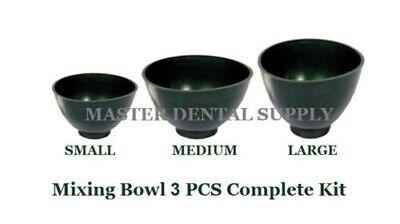 Set Of 3 Dental Lab Rubber Flexible Mixing Bowl Large Medium Small Green Algina