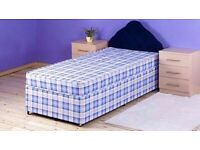 Brand New 3FT Single Light Quilt Bed Set ( Base & Mattress ) - Fast Delivery
