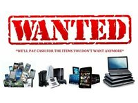 Wanted Video games consoles mobile phones and gold and silver best prices paid in cash