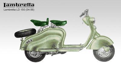 LAMBRETTA 150 LD 1954 - 1956 PARTS LIST MANUAL CATALOGUE