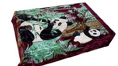 Solaron Korean Blanket throw thick Mink Plush king size baby Panda new