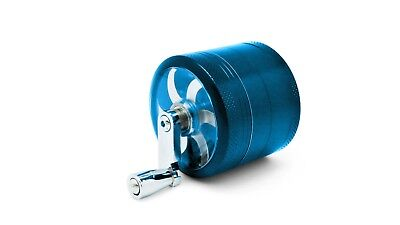 """Blue Herb Grinder w/ Handle Spice Crusher for Tobacco Hand Muller 2"""" 4 Piece"""