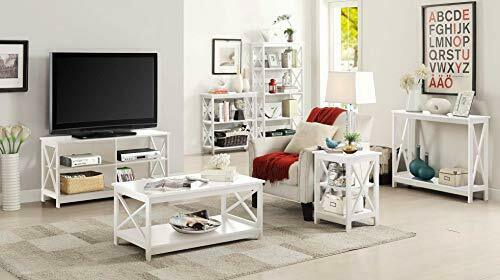 Multipurpose 5-Tier Corner Bookcases Storage Rack Display Unit - White