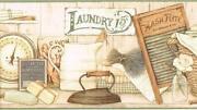 Laundry Wallpaper Border