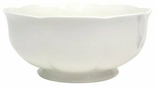 "Block Windsor Bone China 8"" Vegetable Bowl White Scalloped Serving ⭐🍽"