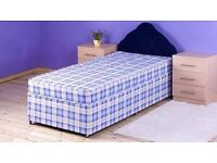 Brand New 3FT Single Light Quilt Bed Set ( Base & Mattress ) Fast Delivery