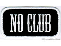 Lone Wolf No Club Independent US Flags USA Rocker Back Biker MC Patch LRG-0578