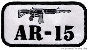 GUN-PATCH-AR-15-RIFLE-EMBLEM-2nd-AMENDMENT-RIGHTS-EMBROIDERED-IRON-ON-M4-CARBINE