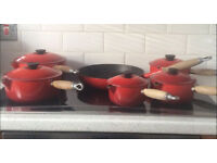 ********Le Creuset 5 Piece Pan Set & Cousances Frying Pan*******