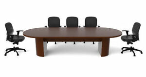 Solid Cherrywood Conference Room Table and Chairs